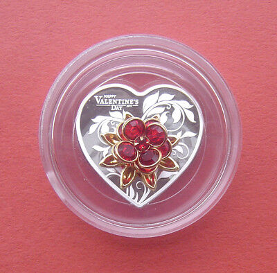 Cook Islands 2019 Happy Valentine's Day 5 Dollars 20g Silver Proof Coin