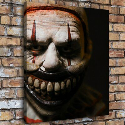 "16""x18""Horror Clown HD Canvas prints Painting Home decor Picture Room Wall art"