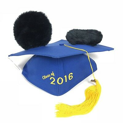 Disneyland Theme Parks Graduation Class Of 2016 Mickey Mouse Mortarboard Ears