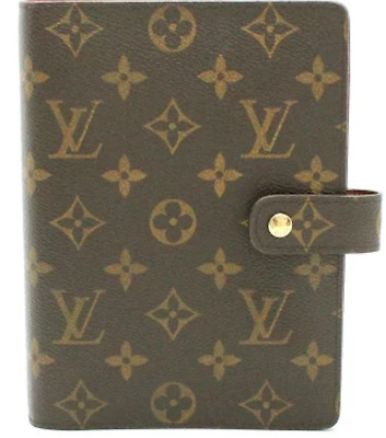 LOUIS VUITTON Monogram Agenda MM Day Planner Cover R20105 Auth F/S JAPAN