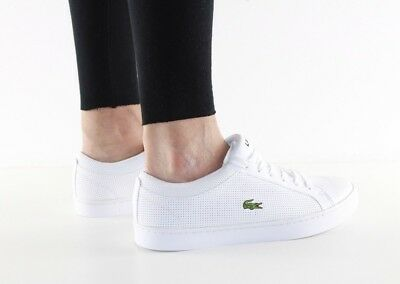 82e729c41 Lacoste Womens Girls Straightset Lace Leather Trainers - Various Sizes (RRP  £80)