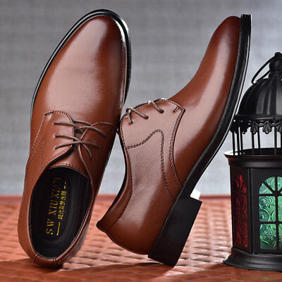 Mens Formal Leather Shoes Business Lace up Wedding Oxfords Dress Casual Loafers