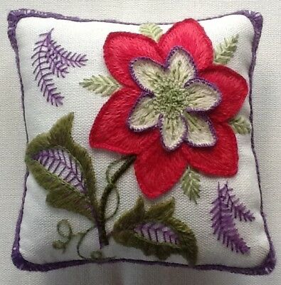 'Flower Study', a crewel embroidery kit for beginners