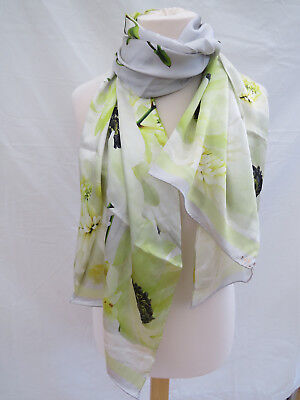 "NEW!! Ted Baker London ""Pearly Petal"" Long Silk Scarf - STUNNING!!"