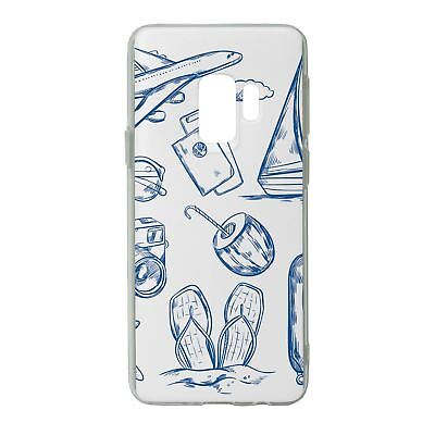 For Samsung Galaxy S9 Silicone Case Travel Holiday Pattern - S4750