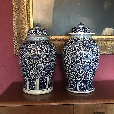 Beautiful Blue And White Vases Jars Urns