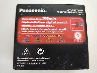 Genuine Panasonic AY-MD74E5C Recordable Mini Disk 74min - Pack 5 - NEW