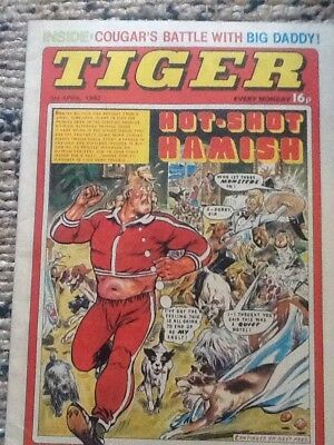 TIGER COMIC 1982 hotshot Hamlsh 3rd april