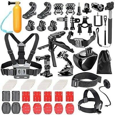 GoPro Hero Accessories Kit 6 5 4 Bundle 62 In 1 Outdoor Action Camera Sports