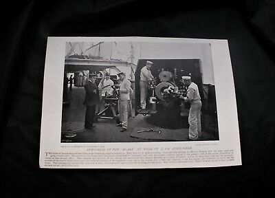 1896 Photo print ARMOURERS ON HMS BLAKE & SOLDIERS' & SAILORS' PARTY AT MALTA