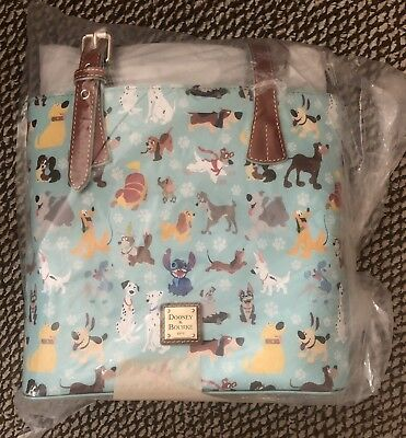 Disney Dog Dooney and Bourke Blue Tote Bag Sealed New Stitch Placement! 2017