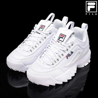 FILA Disruptor II 2 White Trainers Classic Athletic Unisex Shoes
