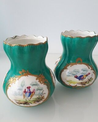 Porcelain Vase pair18th Century Soft Paste after Sevres