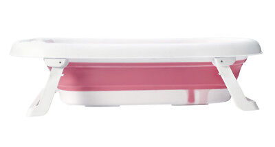 Baby Folding Bath Travel Bathtub Anti Slip Kids bath by Babyyuga - Pink