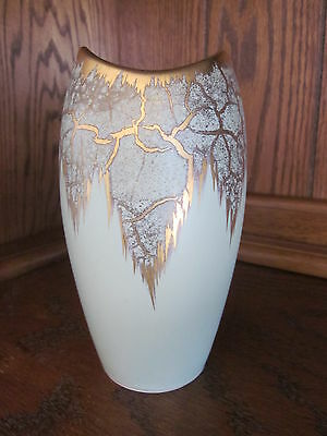 Dumler & Breiden - Gold Crackle Vase  West Germany
