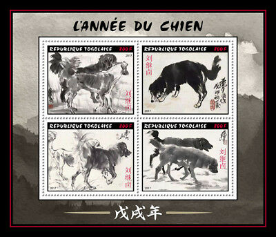 Z08 Imperforated Tg17105a Togo 2017 Dogs Mnh ** Postfrisch Afrika