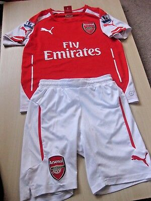 2aadf151b Arsenal 2014-2015 Puma Home Shirt with Shorts Youth size 26 28 Welbeck 23