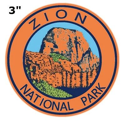 Zion National Park Embroidered Patch Utah Iron or Sew-on Souvenir Travel Series