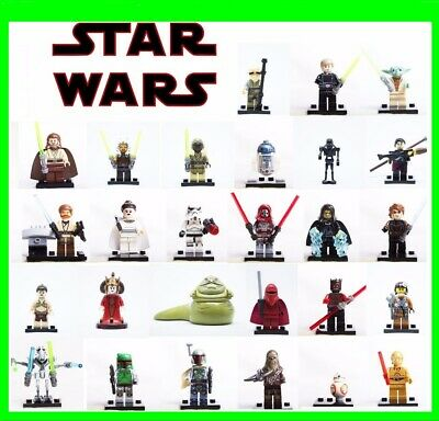 Lego - Minifigures-Star Wars- Personaggi -  Jedi Darth Vader- Yoda- Custom Like