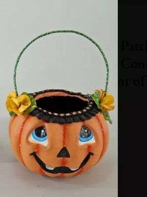 Katherine's Collection Pumpkin Patch Mini Pumpkin Container Ornament Halloween