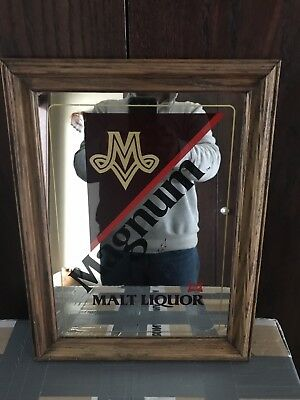 Vintage Miller Magnum Beer Sign Advertising Mirror