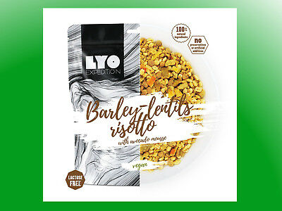 (9,27€/100g) Lyofood Graupen-Linsen-Risotto mit Avocado-Mousse