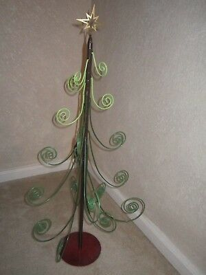 "Metal Christmas Tree Ornament Hanger Display 30"" TALL"