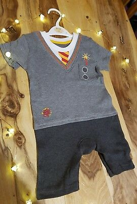 9be3a16ad07 💖Official Harry Potter Baby grow romper suit Wizard in training 9-12  months💖