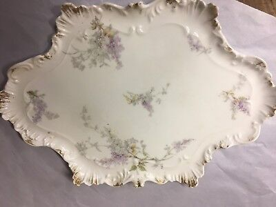 Antique Hand Painted Limoges Tray