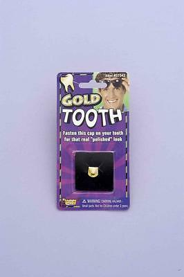 Gold Prosthetic Tooth Cap Costume Accessory One Size