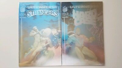 Ultraverse Hard Case 1 & The Strangers 1 Limited Holographic Edition Lot RARE