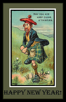 Scotsman Happy New Year Refrigerator Magnet - Free US Shipping