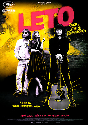 Leto - Russischer Punk-Rock-Film 2018  - Orig. Cinema Film Poster A4