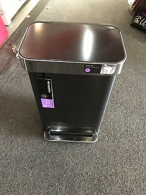 Simplehuman 45 Liter Rectangular Step Trash Can With Liner Pocket In