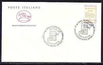 """Italy 1997  - 1000 Lira Antonio Gramasci Official  """"Official"""" First Day Cover"""