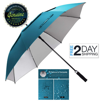Zekar Large Umbrella Windproof Vented Golf 68 Inch Uv Protection Double Canopy