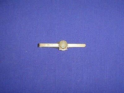 Vintage 1954 SHELL OIL CO Tie Clip Bar 10K Gold 20 Year Service 12K GF Bar