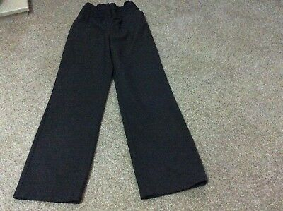 Girls Grey School Trousers age 9/10 Years  With Adjustable Waist by George