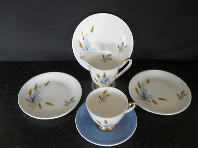 Windsor Windswept Bone China Tea Set For One Vintage Retro Pretty