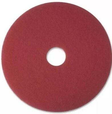 "5 Pack Of Red 17"" Floor Buffer Pads"