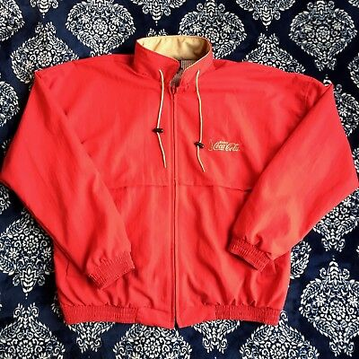 Coca Cola Hilton Active Apparel Vintage Full Zip Jacket Size XL Made In USA