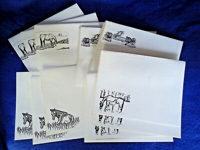 25 Assorted Horse Designs Printed Envelopes New