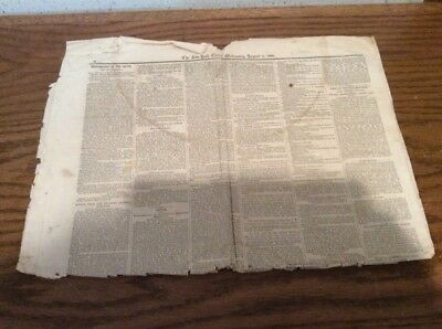 New York Times August 9 1865 Newspaper Restoriation Of The South Civil War