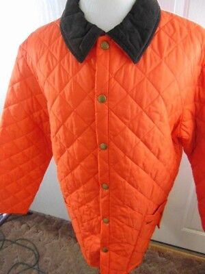 Barbour Men's Heritage Liddesdale Jacket Orange XL New With Tags