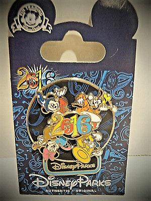 Disney Parks Mickey & Friends Spinner Trading Pin 2016 New