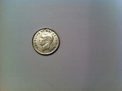 1952 Canada 10 Cent, UNCIRCULATED, Silver, Canadian ten dime (325)