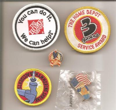 Hd05 Home Depot Three Special Purpose Patches And Two Sept 11,2001  Pins