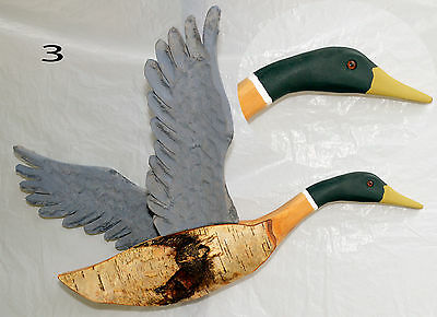 Canadian Goose - Hand Carved - Birch Bark - Wood Picture Art Wall Hanging  (3)