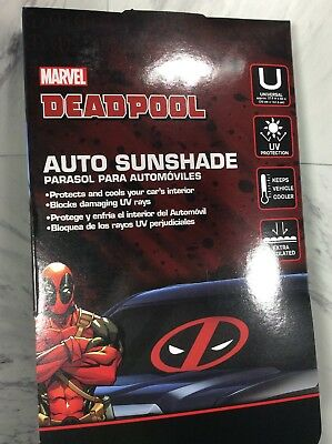 Plasticolor Marvel Deadpool Logo Front Car Truck SUV Windshield Sunshade  Cover 59ad7b4e5dc