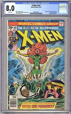 X-Men #101 - Cgc 8.0 White - Vf - 1St Phoenix